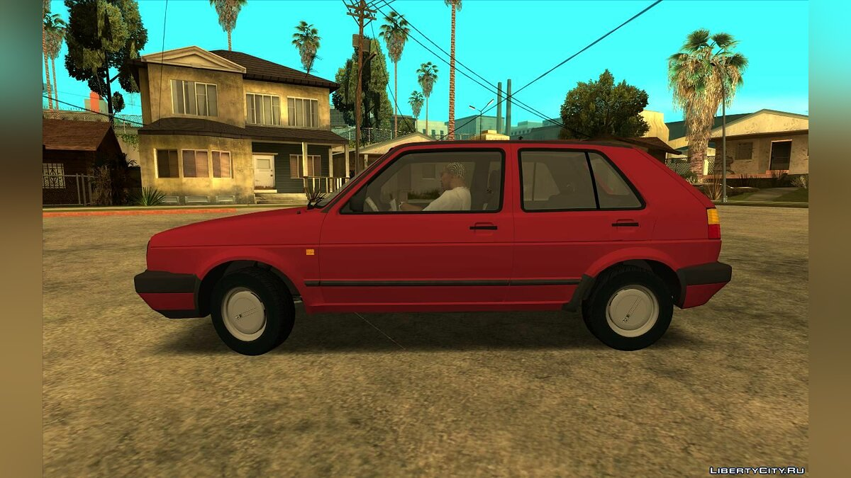 Volkswagen car 1990 Volkswagen Golf Mk2 for GTA San Andreas