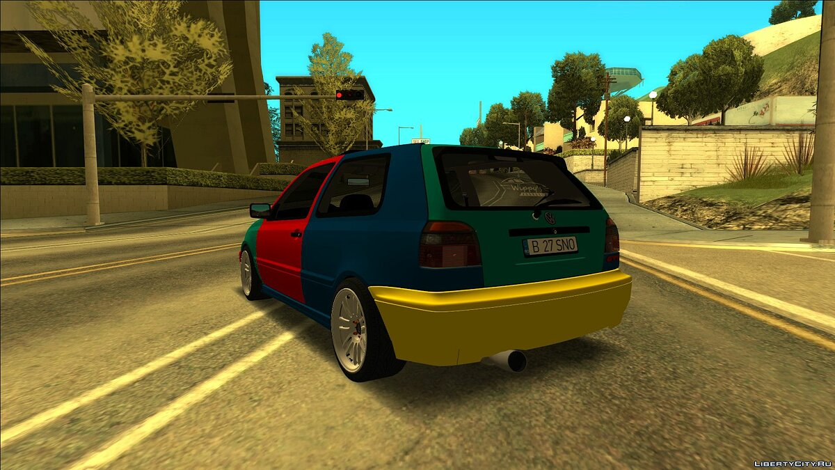 Volkswagen car VW Golf Mk3 Harlequin Edition 1998 for GTA San Andreas