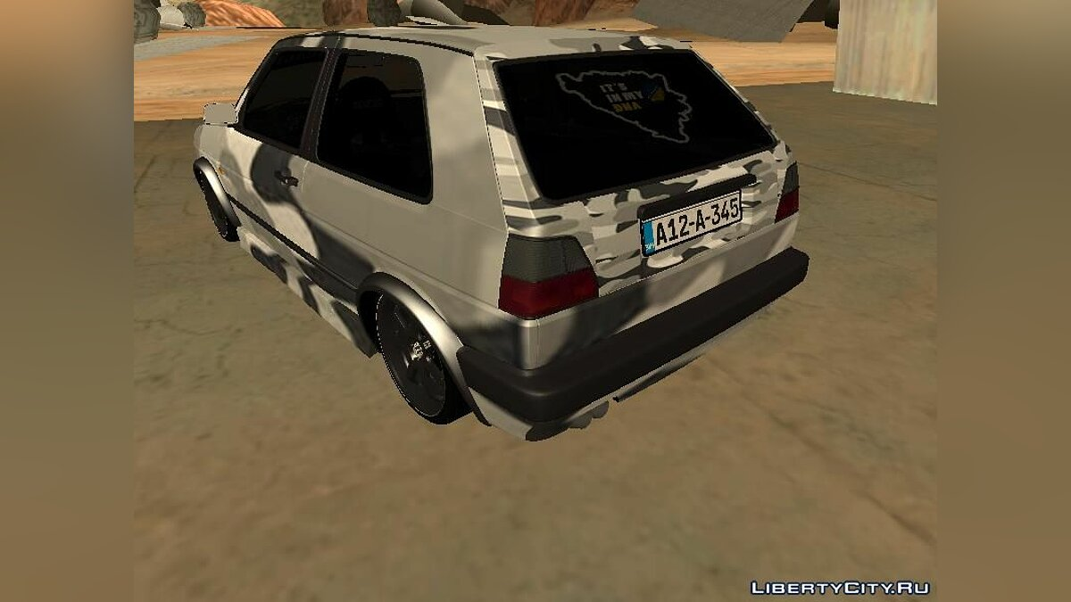 Volkswagen car Volkswagen Golf 2 Camo for GTA San Andreas