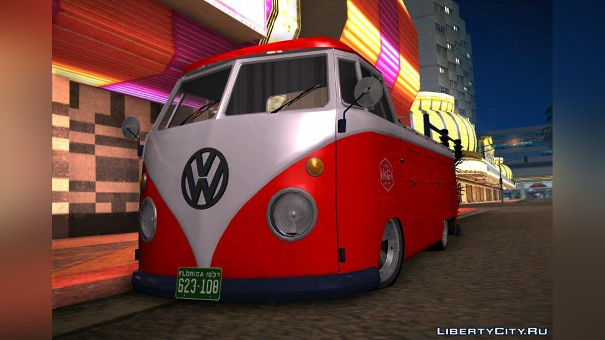 Volkswagen car 1958 Volkswagen Type 2 (T2) Pickup - Coca Cola Old Distribution Car for GTA San Andreas