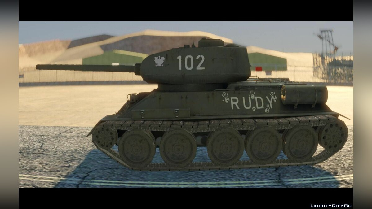 Military vehicle T-34-85 - Rudy 102 for GTA San Andreas
