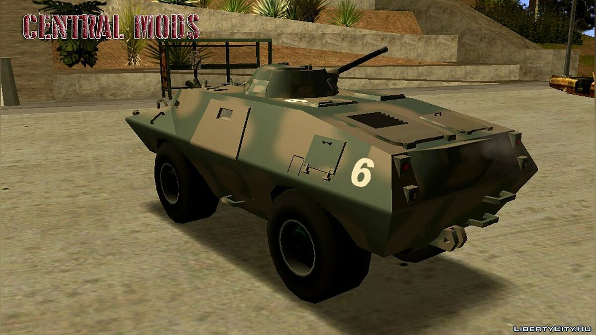 Military vehicle Armored personnel carrier of the brazilian army for GTA San Andreas