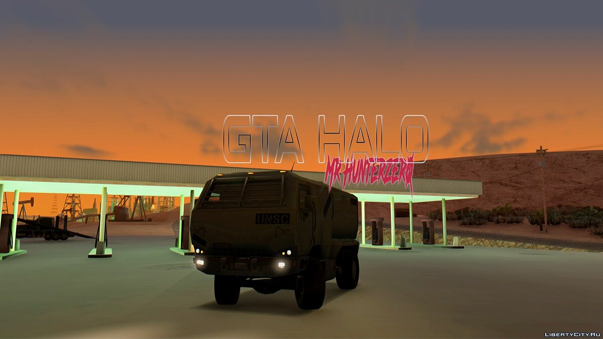Military vehicle Cargo Truck UNSC for GTA San Andreas