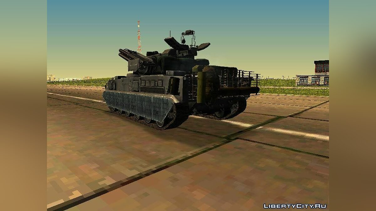 Military vehicle Anti-aircraft missile and gun complex