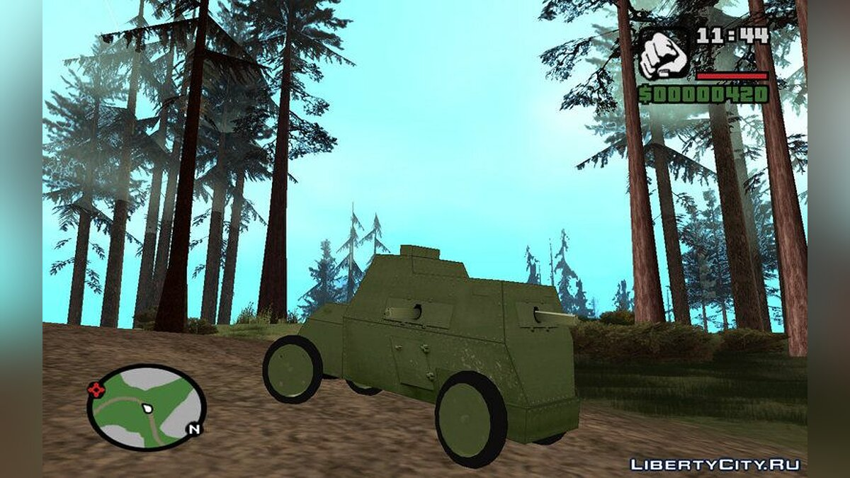 Military vehicle Russo-Balt type C for GTA San Andreas