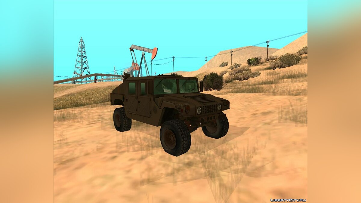 Military vehicle B.S.A.A. Humvee of Resident evil 5 for GTA San Andreas
