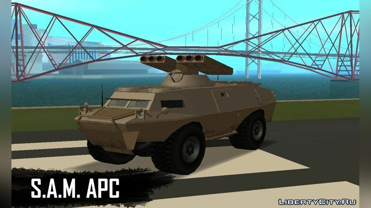 Military vehicle GTA 5 HVY APC (S.A.M. Turret) for GTA San Andreas