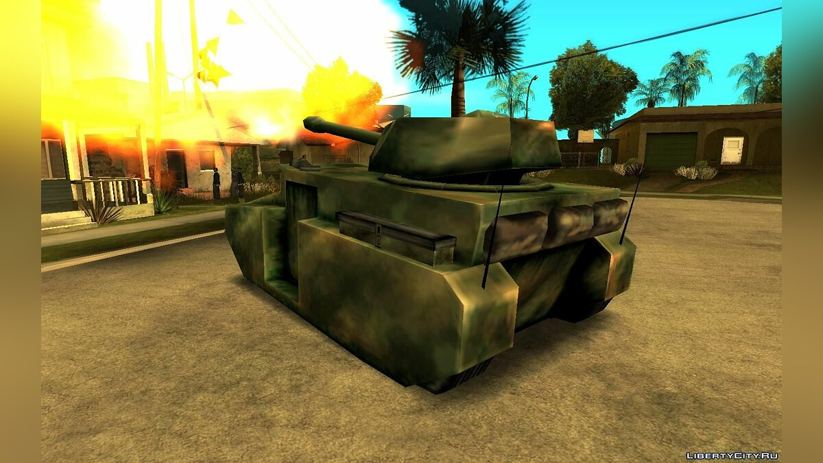 Military vehicle Tank from GTA Vice City in San Andreas style for GTA San Andreas
