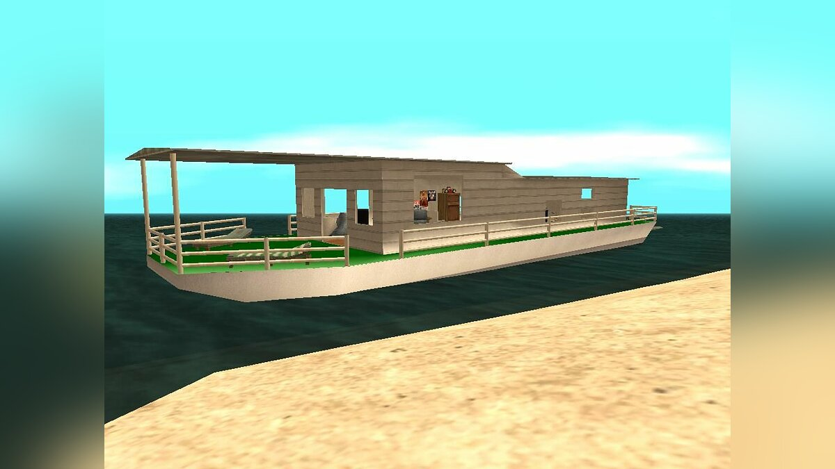 Boats and motorboats House afloat for GTA San Andreas