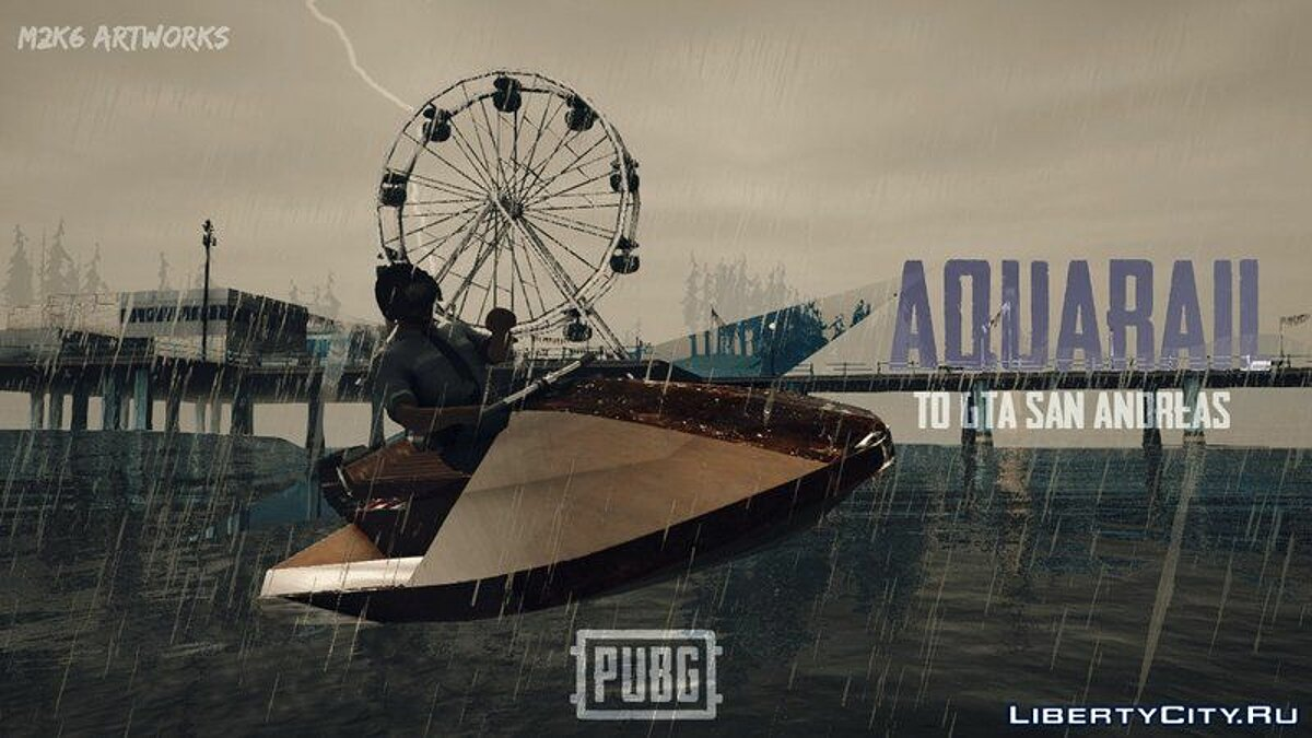 Boats and motorboats PUBG Aquarail - Watercraft PUBG for GTA San Andreas