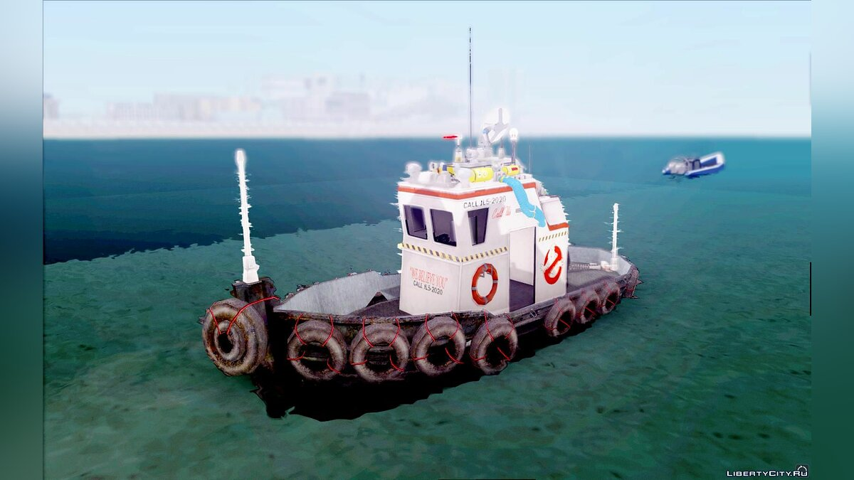 Boats and motorboats Marine Ecto 8 (Ghostbusting Tug) for GTA San Andreas