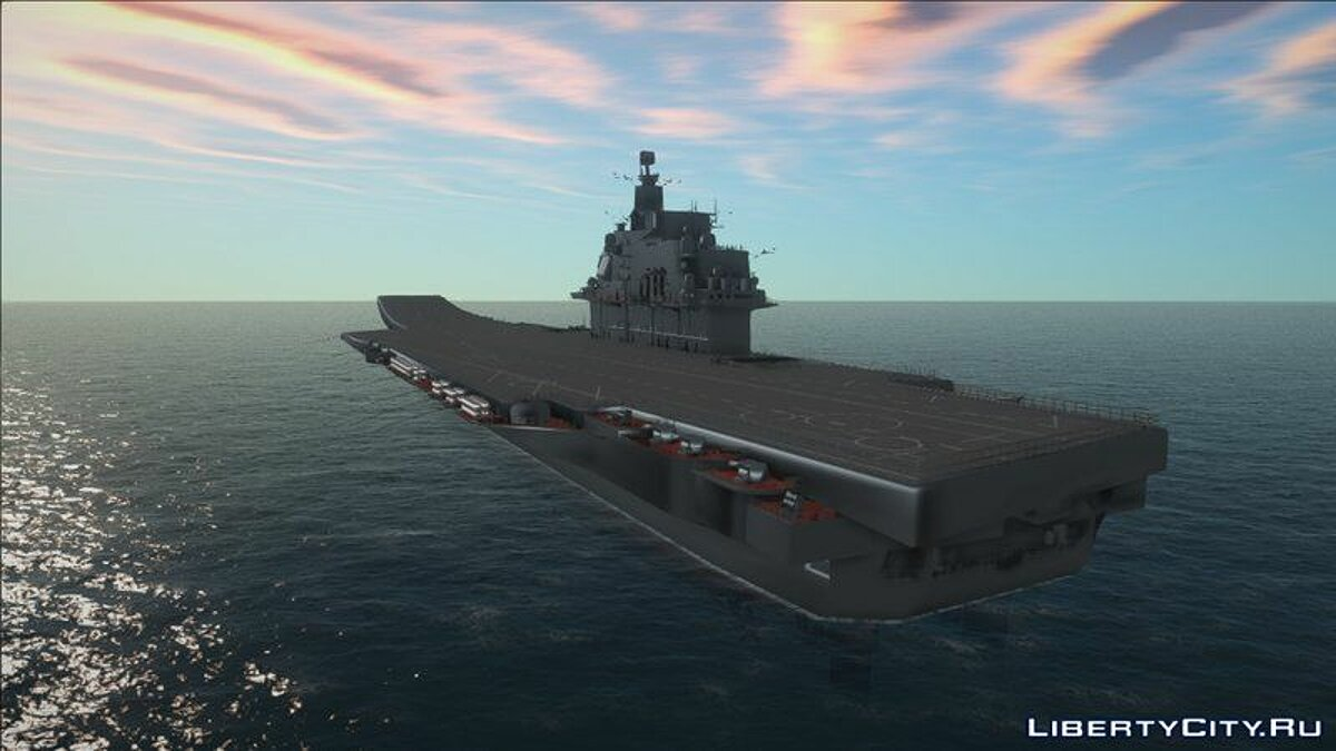 Boats and motorboats Admiral Kuznetsov Aircraft Carrier for GTA San Andreas