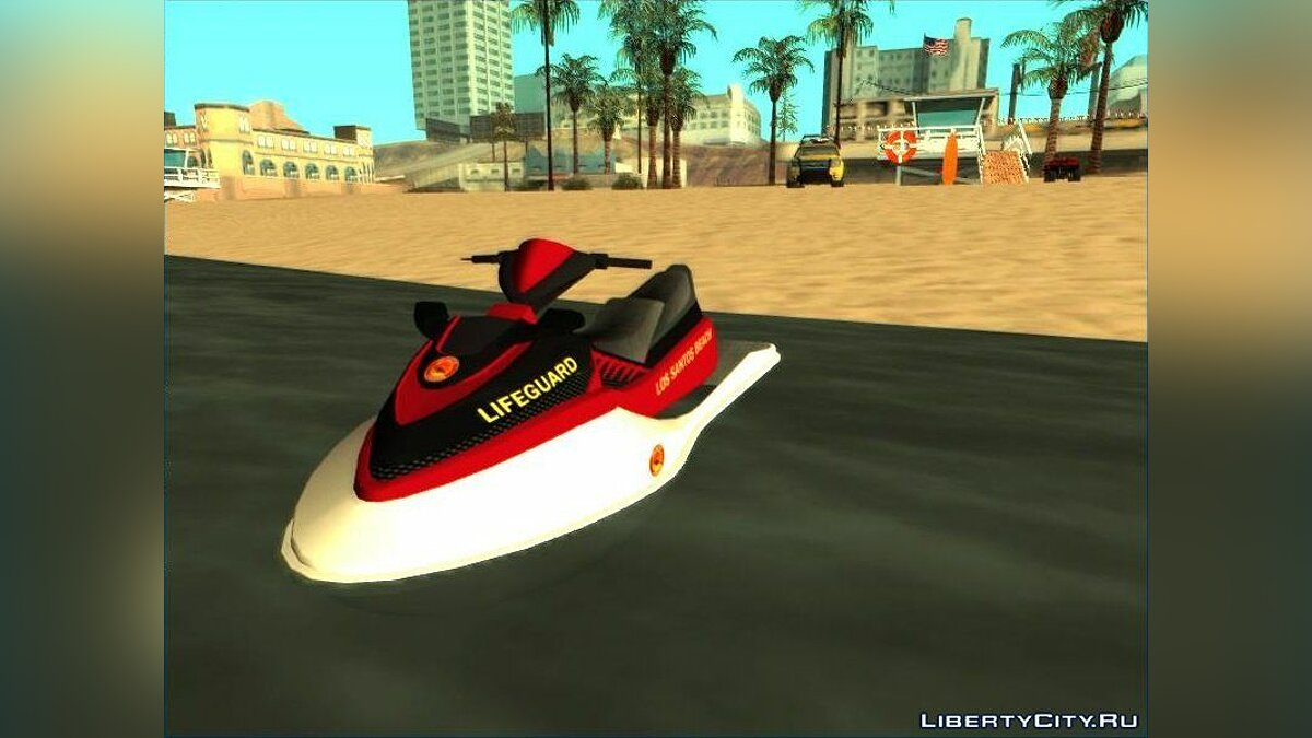 Boats and motorboats Rescue Jet Ski [Add-on] for GTA San Andreas