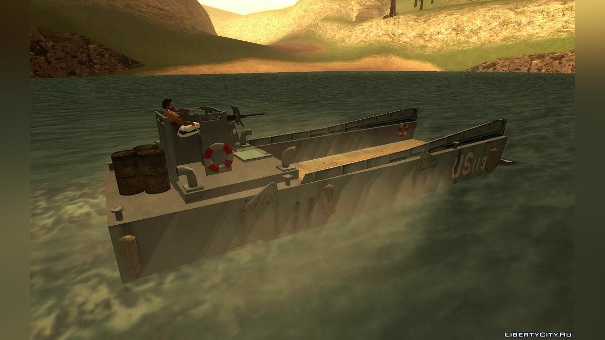 Boats and motorboats Military ferry for GTA San Andreas