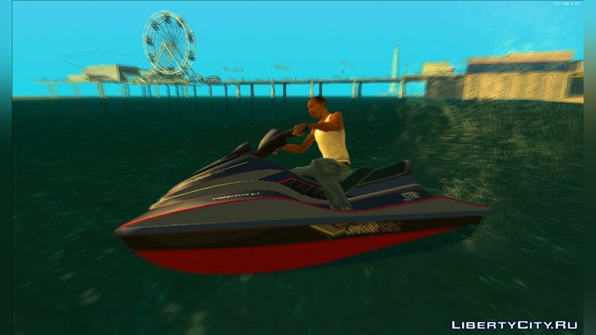 Boats and motorboats Speedophile Seashark (yacht) from GTA 5 for GTA San Andreas