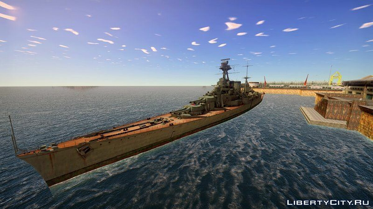Boats and motorboats Battleship Hood (HMS Hood 1918) for GTA San Andreas