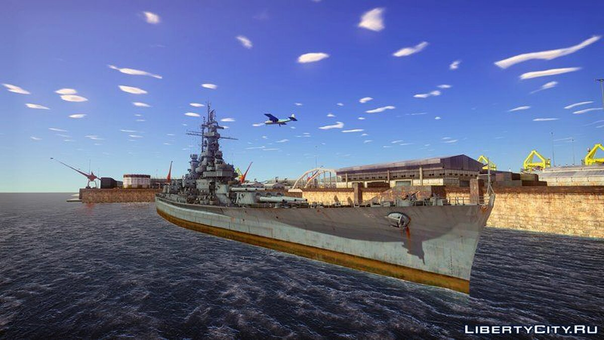 Boats and motorboats 1941 USS Massachusetts for GTA San Andreas