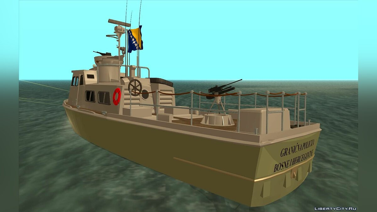 Boats and motorboats Bosnia and Herzegovina Police Boat for GTA San Andreas