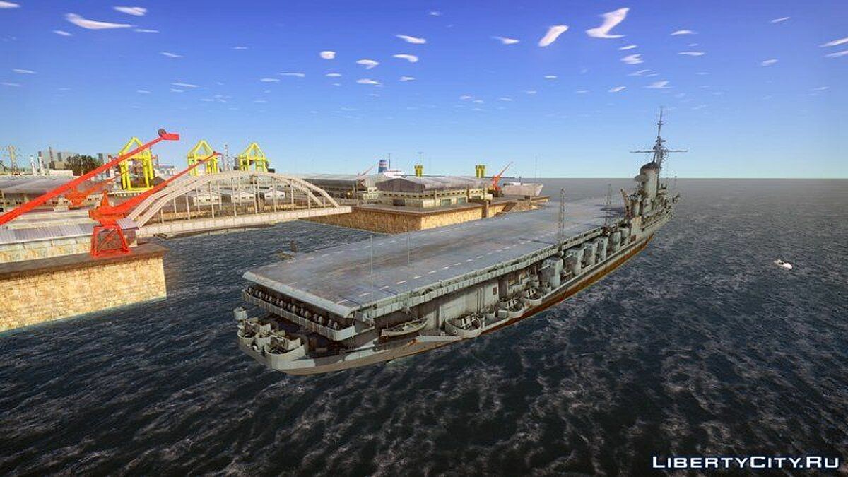 Boats and motorboats 1945 USS Midway for GTA San Andreas