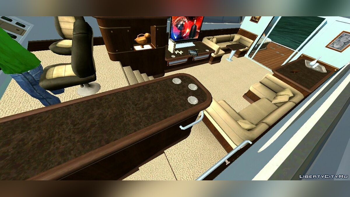 Boats and motorboats Luxury yacht for GTA San Andreas (iOS, Android)