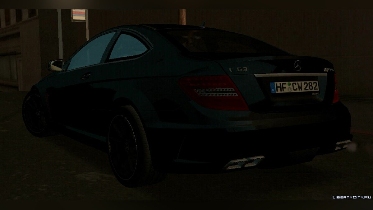 Boats and motorboats Mercedes-Benz C63 AMG W204 Black Series for GTA San Andreas (iOS, Android)