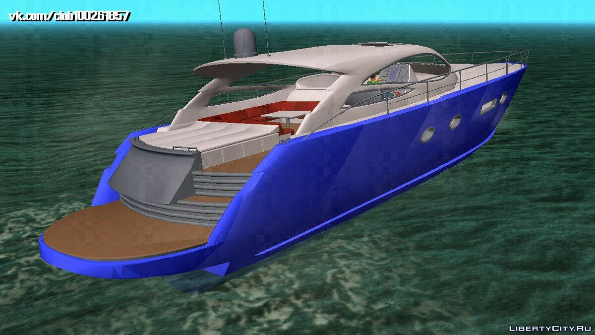 Boats and motorboats Yacht (DFF only) for GTA San Andreas (iOS, Android)