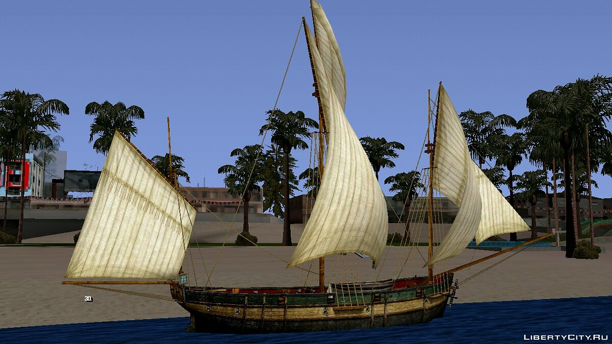 Boats and motorboats Caravel for GTA San Andreas (iOS, Android)