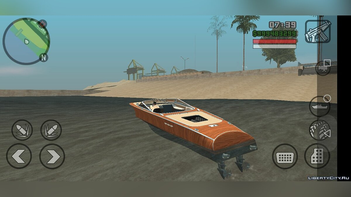 Boats and motorboats Lampadati Toro - Only DFF for GTA San Andreas (iOS, Android)