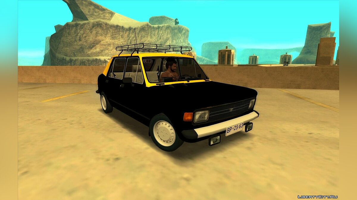 Zastava car Outpost 1100 Confort Chilean Taxi for GTA San Andreas