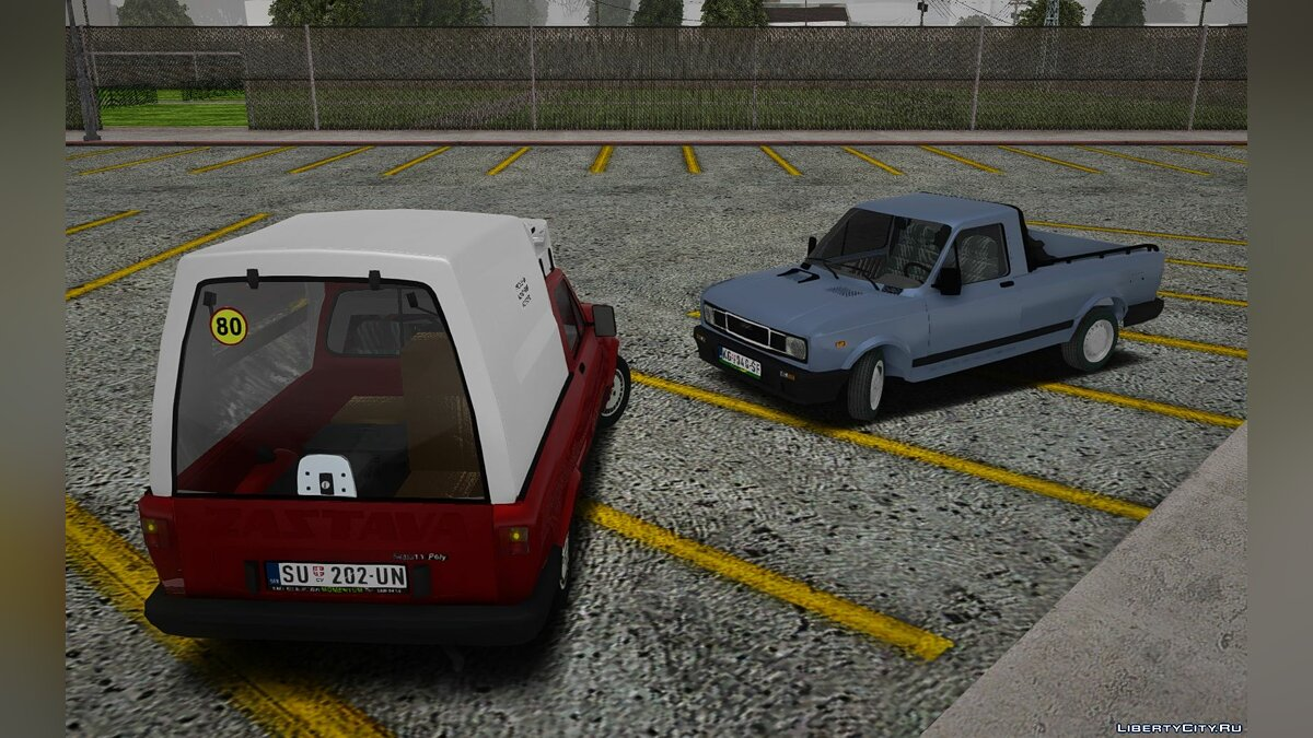 Zastava car Outpost Yugo Skala 1.1 Floors for GTA San Andreas