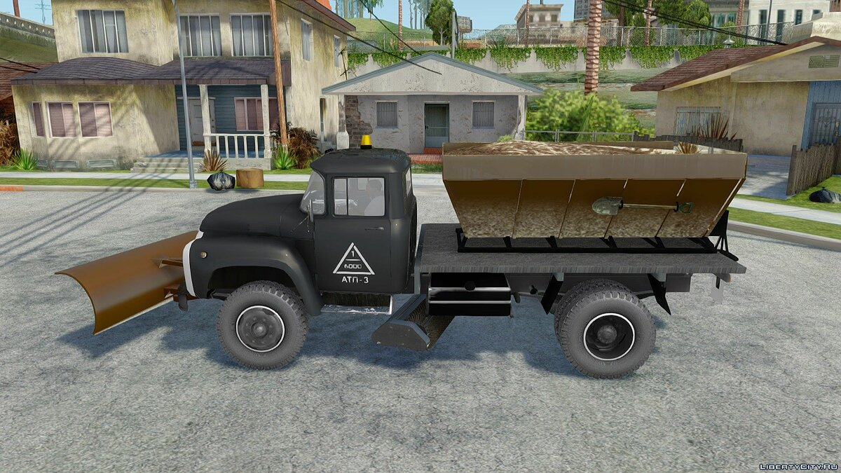 ZIL car ZIL-130 Snow removal for GTA San Andreas