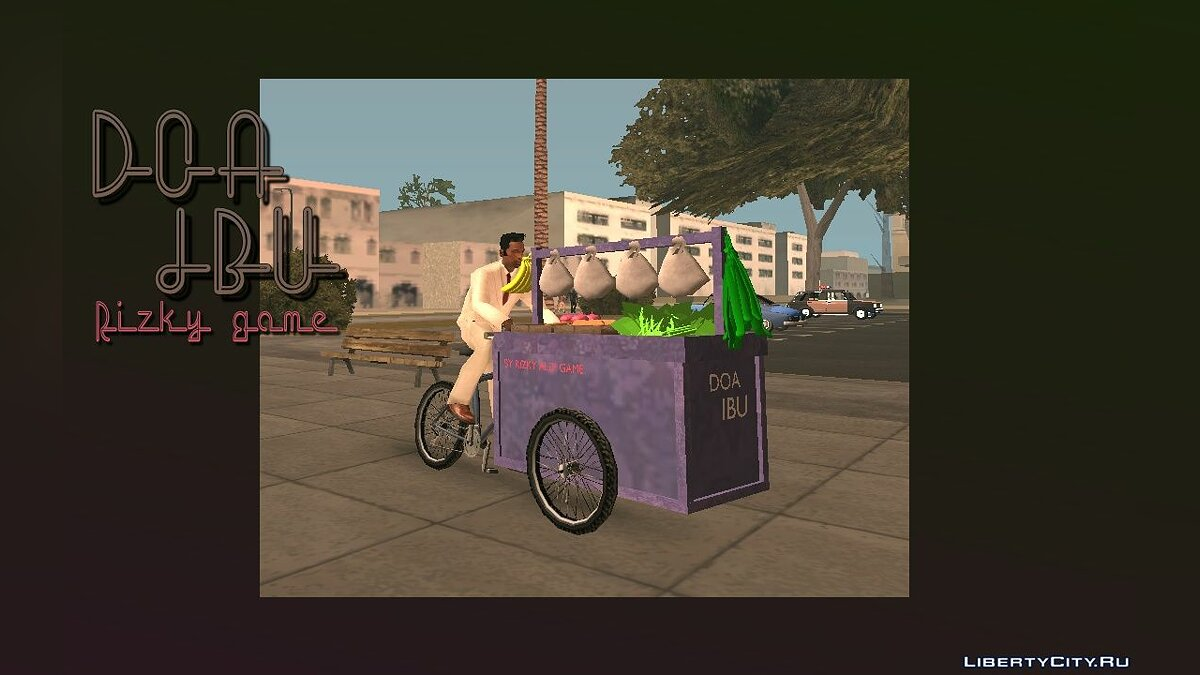Bicycle Vegetable Cart only DFF for GTA San Andreas (iOS, Android)