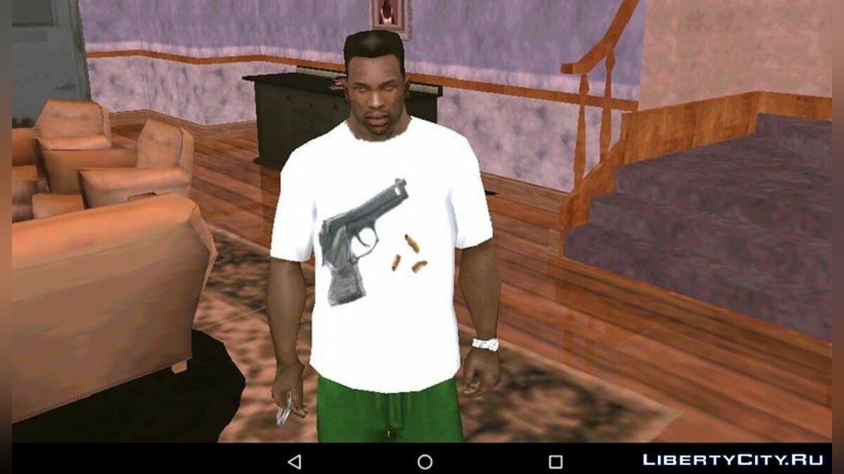 Pullovers and T-shirts M9 Beretta T-shirt for GTA San Andreas (iOS, Android)