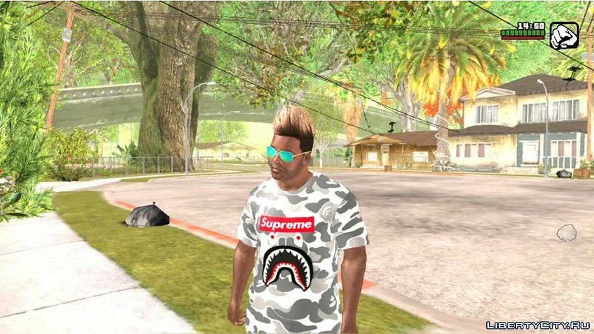 Pullovers and T-shirts Camouflage T-shirt for GTA San Andreas (iOS, Android)