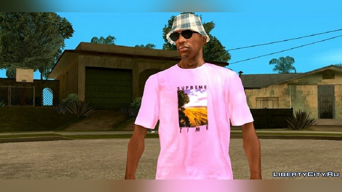 Pullovers and T-shirts SUPREME T-Shirts for GTA San Andreas (iOS, Android)