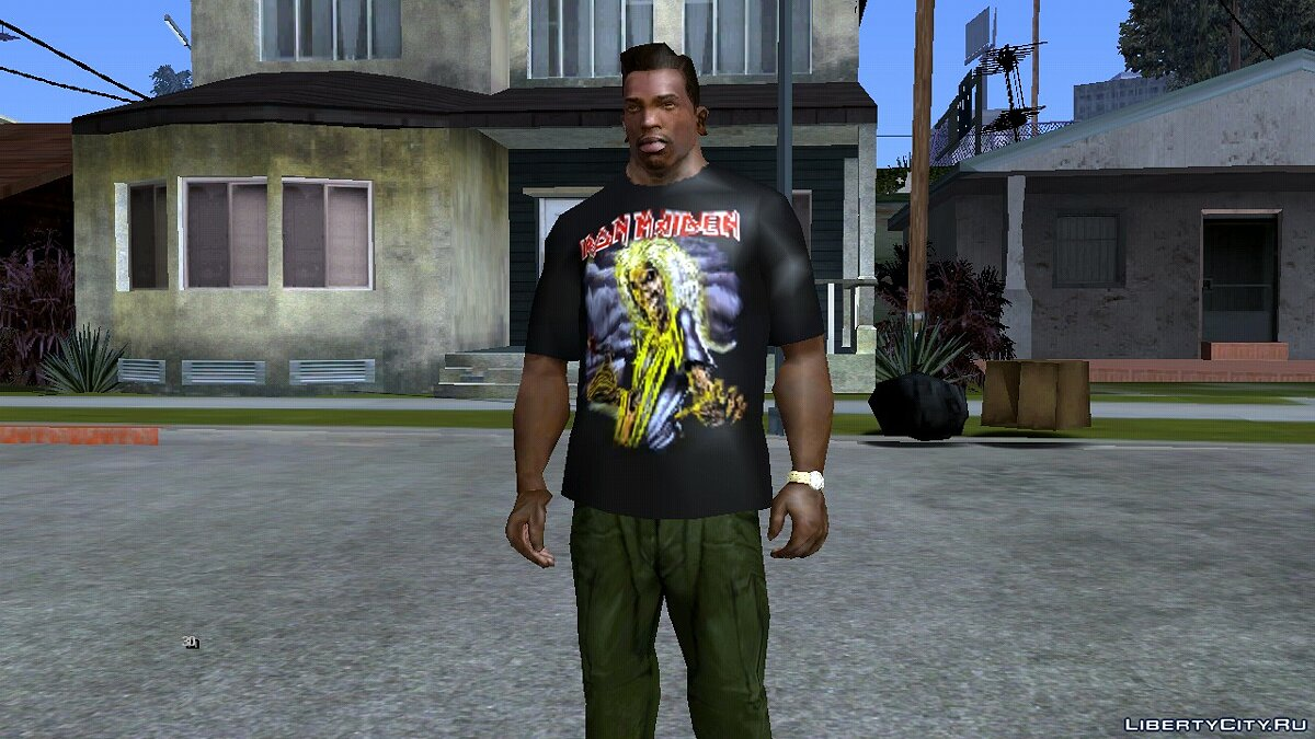 Pullovers and T-shirts Iron Maiden Black T-shirt for GTA San Andreas (iOS, Android)