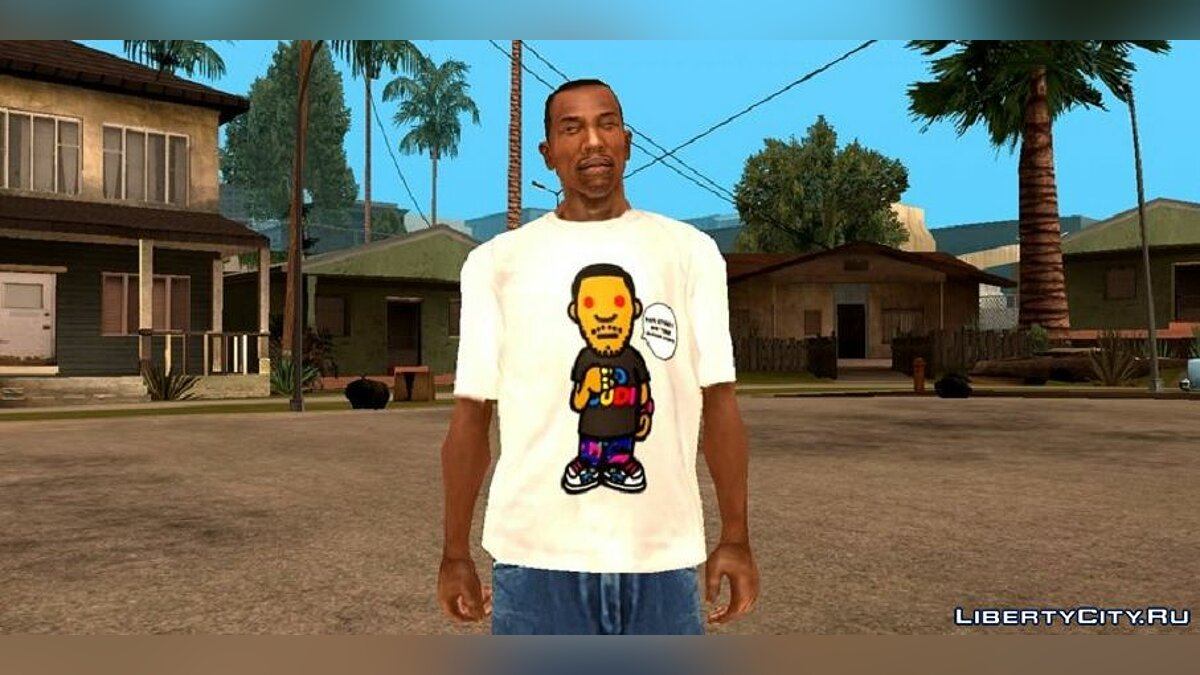 Pullovers and T-shirts Bape x kid cudi for GTA San Andreas (iOS, Android)