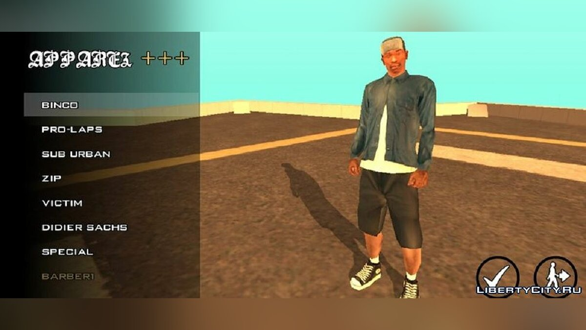 Pullovers and T-shirts Beta Clothing for GTA San Andreas (iOS, Android)