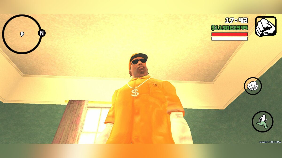 Pullovers and T-shirts CJ from the loading screen for GTA San Andreas (iOS, Android)