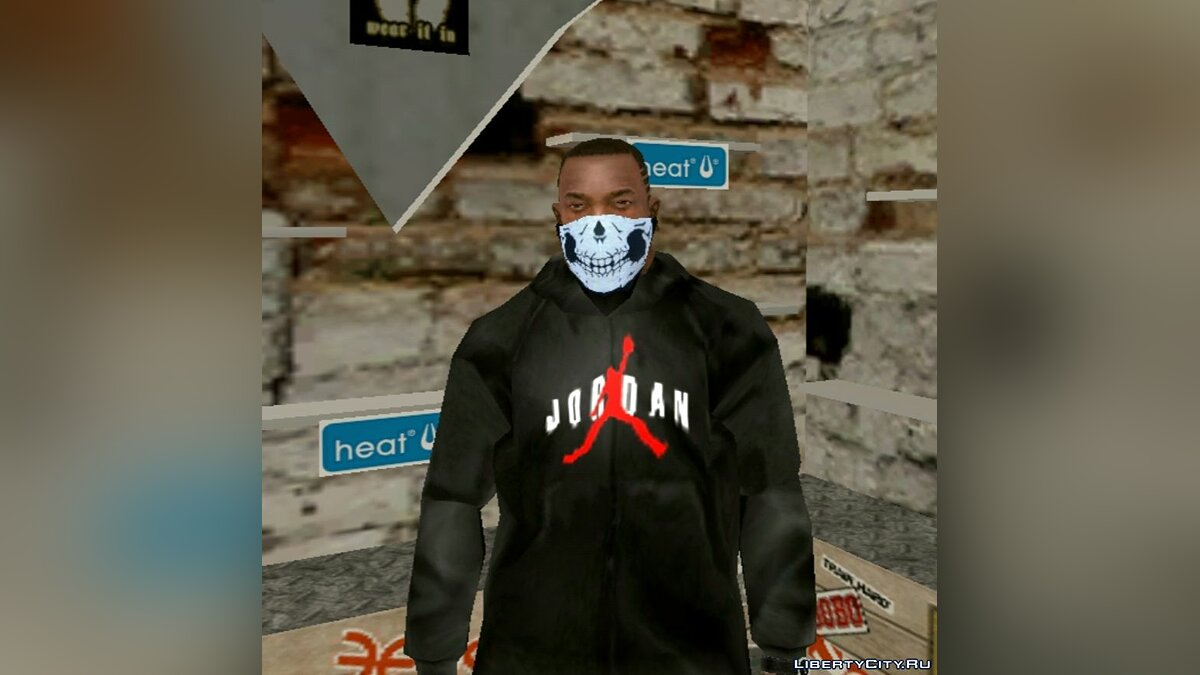 Pullovers and T-shirts Jordan hoody for GTA San Andreas (iOS, Android)