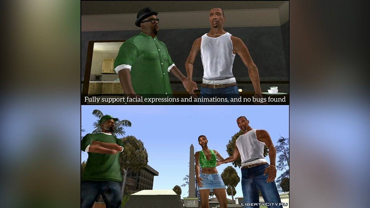 Pullovers and T-shirts Insanity CJ 2021 Ultimate Edition for GTA San Andreas (iOS, Android)