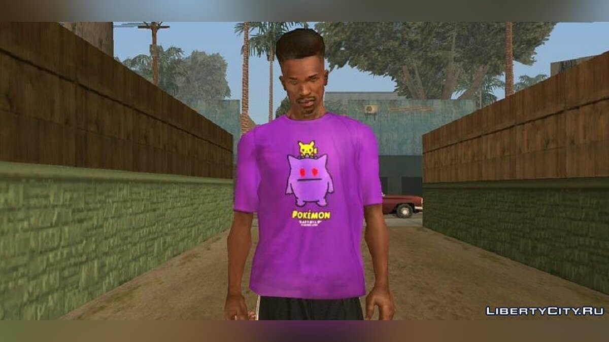 Pullovers and T-shirts Pokemon T-Shirts for Karl for GTA San Andreas (iOS, Android)