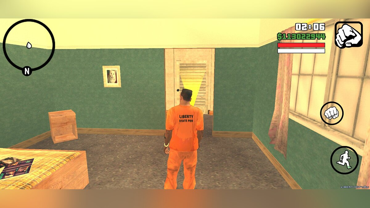 Pullovers and T-shirts Prison form CJ for GTA San Andreas (iOS, Android)