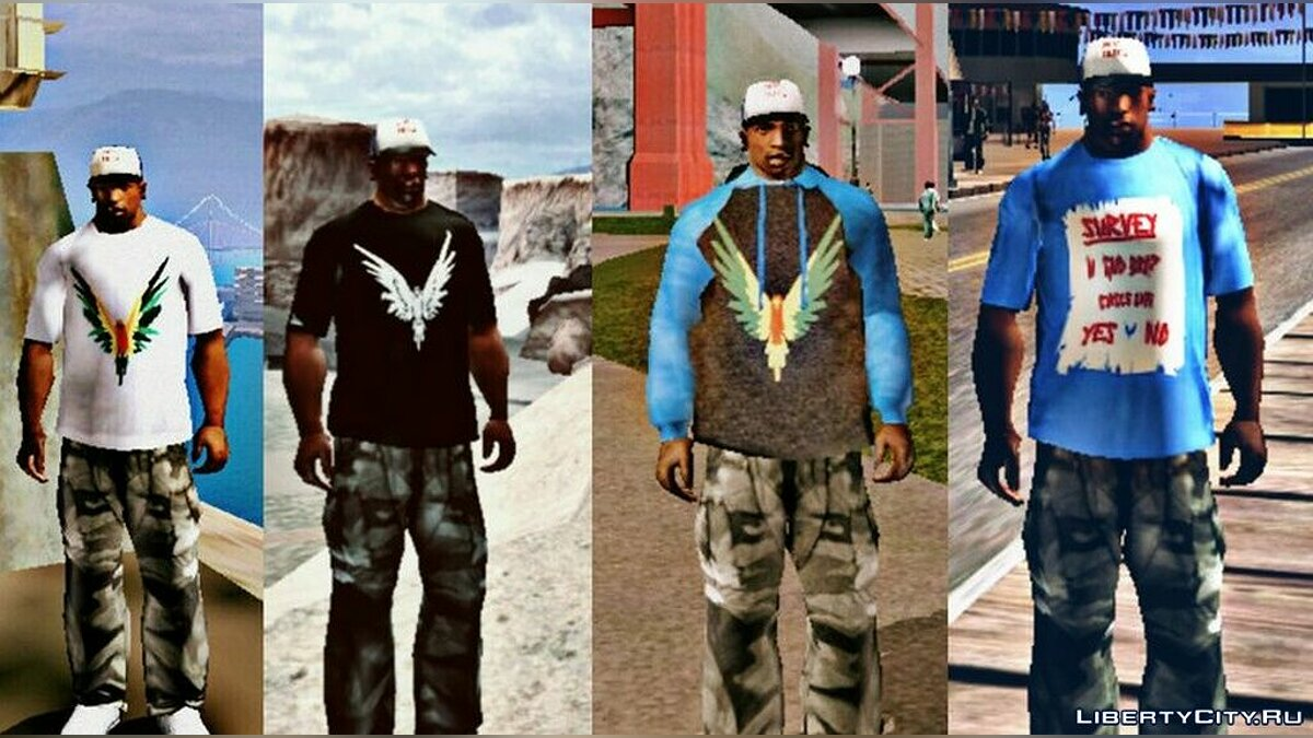 Pullovers and T-shirts Collection of T-shirts with the logo of Logan Paul for GTA San Andreas (iOS, Android)