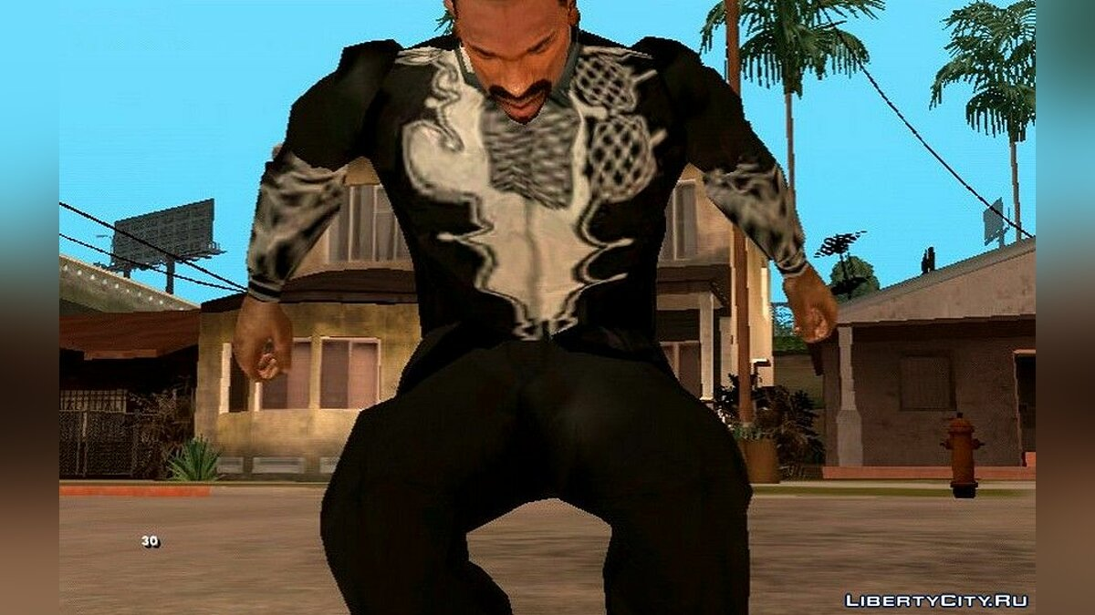 Pullovers and T-shirts Black Panther Clothes for GTA San Andreas (iOS, Android)