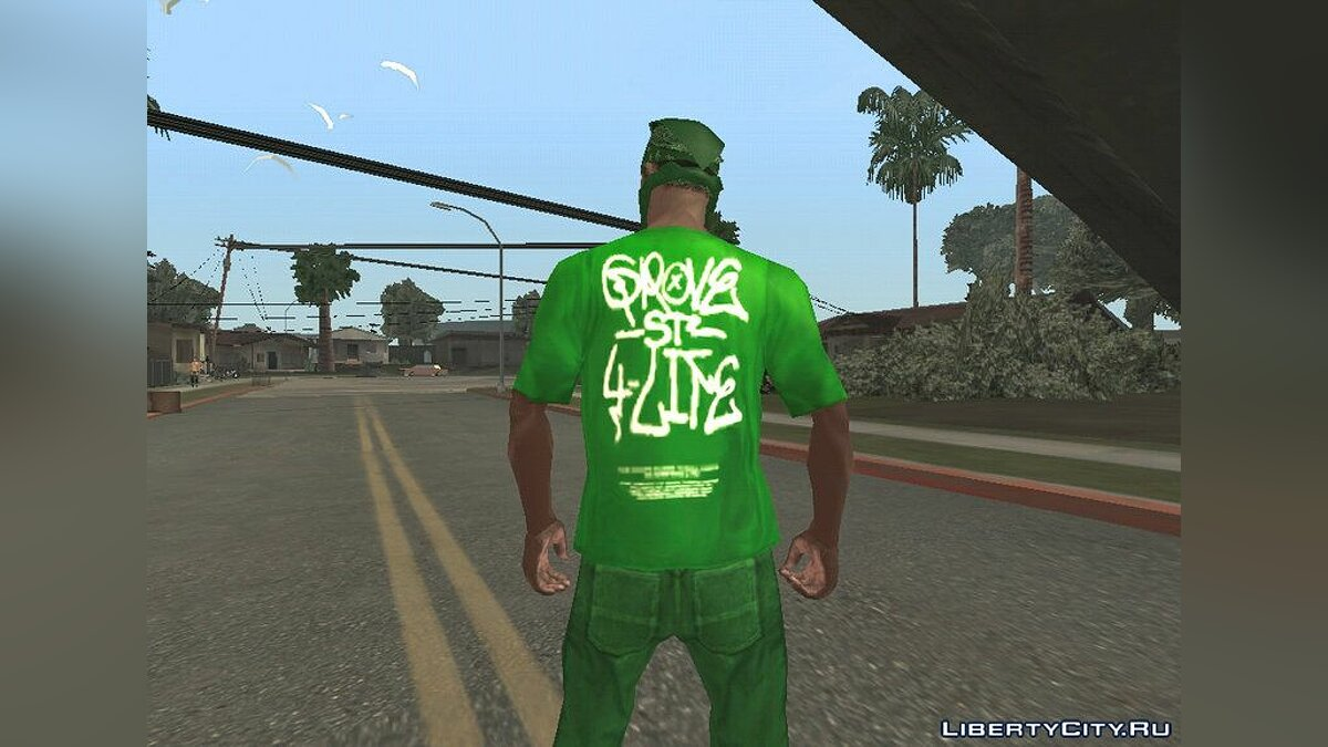 Pullovers and T-shirts Футболка GSF for GTA San Andreas (iOS, Android)