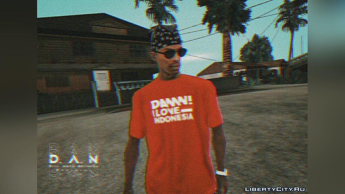 Pullovers and T-shirts Футболка DILIND v2 for GTA San Andreas (iOS, Android)