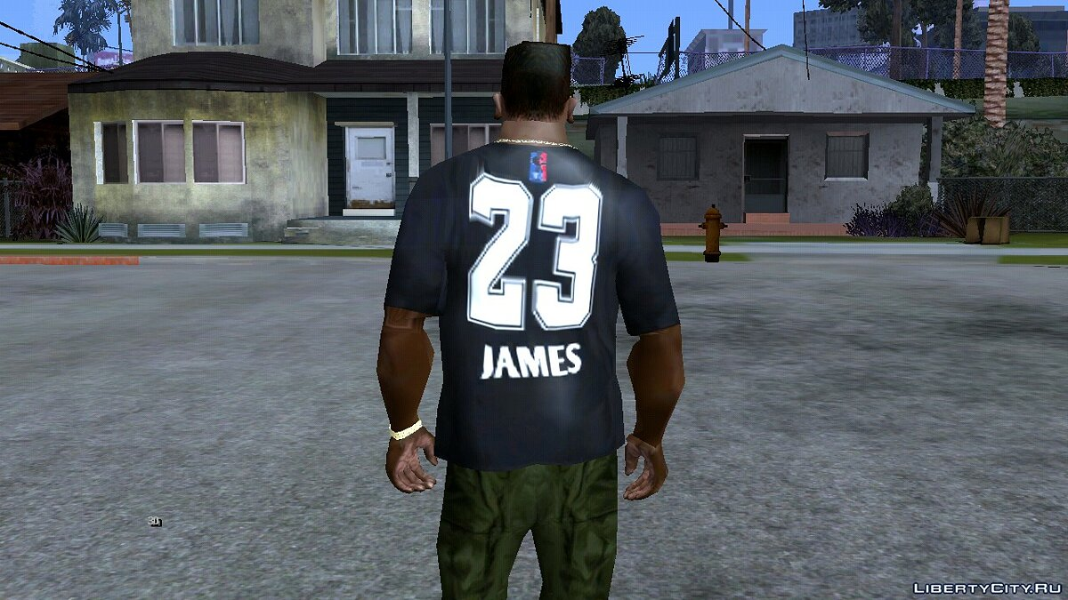 Pullovers and T-shirts LeBron James Jersey T-shirt for GTA San Andreas (iOS, Android)