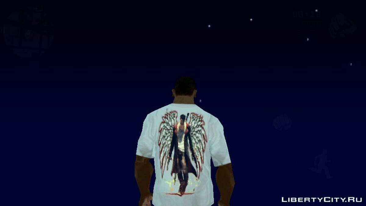 Pullovers and T-shirts Футболка с тематикой Devil May Cry for GTA San Andreas (iOS, Android)