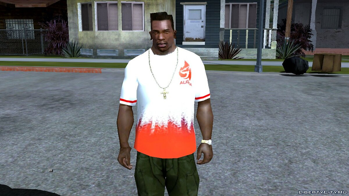 Pullovers and T-shirts Aura esport for GTA San Andreas (iOS, Android)